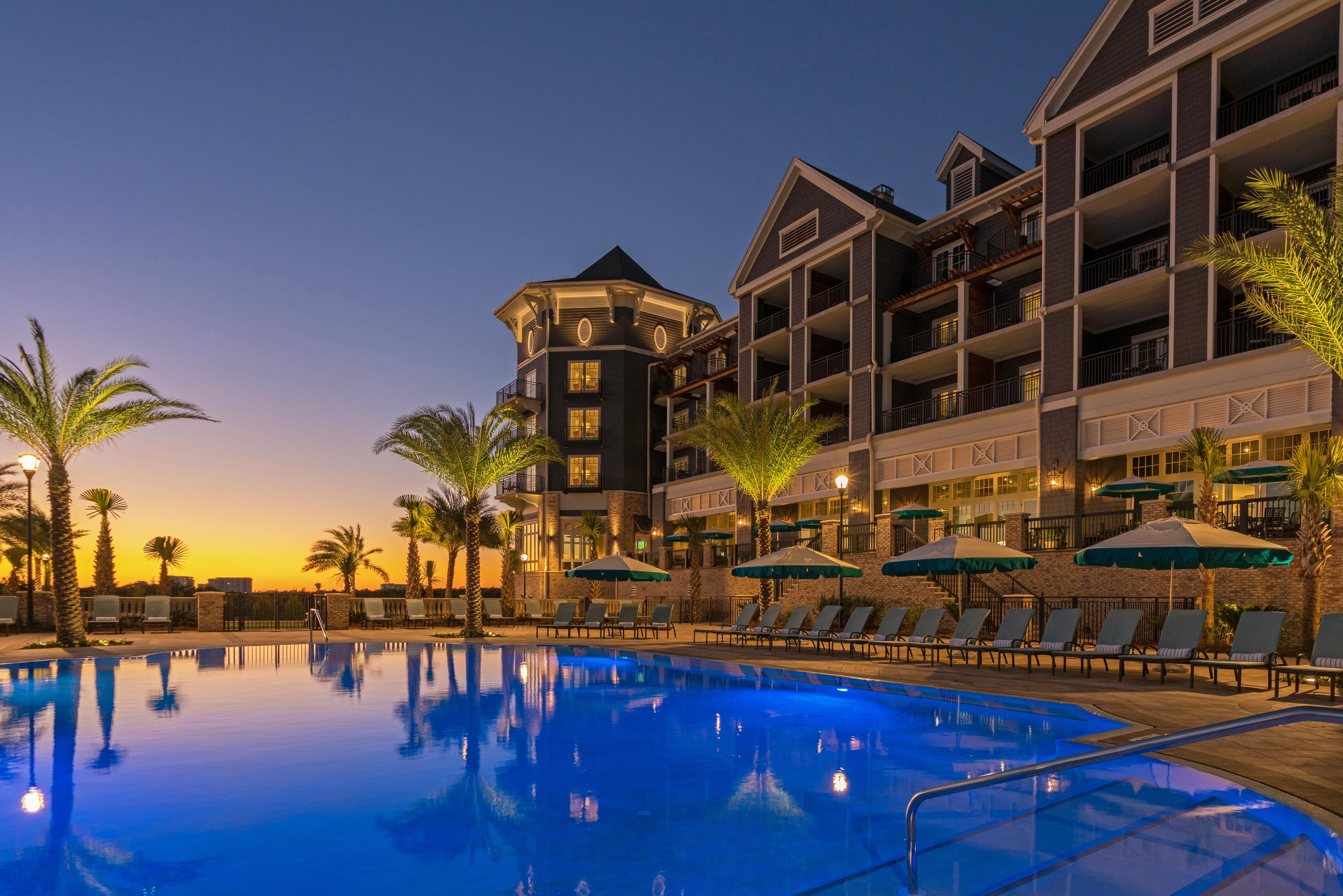 Pool Evening Angle